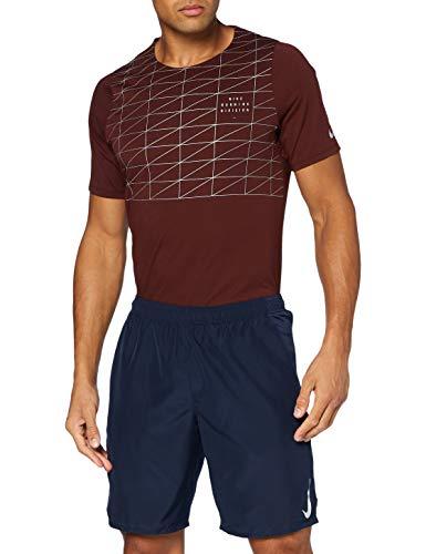 Nike M Nk Chllgr Short 9In BF, Pantaloncini Sportivi Uomo, Obsidian/Obsidian/(Reflective Silv), S