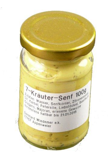Wiedemer Gourmet 7-Käuter Senf 100g