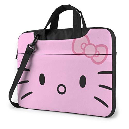 15.6 ″ Viaje de Negocios Rosa He-llo-Ki-tty Laptop Notebook PC Maletín Bandolera Bandolera Funda