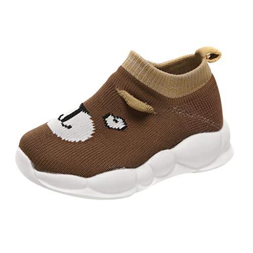 Alwayswin Mädchen Jungen Sportschuhe Sneaker Mesh Atmungsaktive Turnschuhe Cartoon Slip-On Stretch Mesh Schuhe Kleinkind Baby Laufschuhe Socken Schuhe Freizeitschuhe