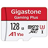 Gigastone Carte microSDXC 128 Go U1 Classe 10 avec Adaptateur SD. Vitesse de Lecture allant jusqu'à 95 Mo/s Haute Vitesse vidéo Full HD Nintendo Dashcam GoPro Caméra Samsung Canon Nikon DJI Drone