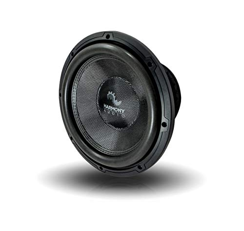 """Harmony Audio HA-C102 Car Stereo Competition Carbon 10"""" Sub 2000W Dual 2 Ohm Subwoofer New"""