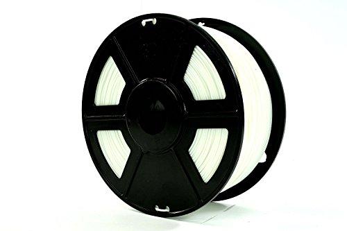 USAFilament 9800422 PLA 3D Printing Filament, 2.2 lb, 1.75 mm, White Spool