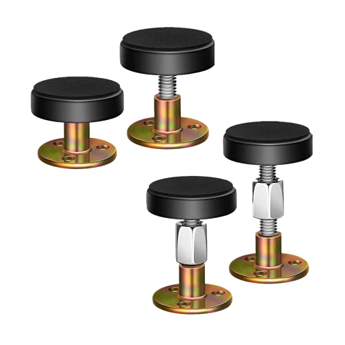 4 Pack Adjustable Threaded Bed Frame Anti-Shake Tool,Headboard Stoppers,Bedside Antishake Telescopic Support Stabilizer for Room Wall, Beds, Cabinets, Sofas