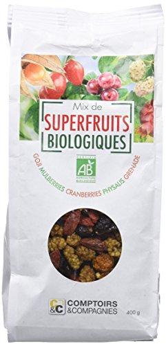 COMPTOIRS ET COMPAGNIES Mix de Superfruits Bio, Naturel, 0.4 kg