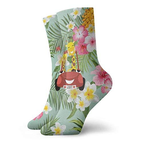 General Brand Quarter Socke,Kurzsocken,Crew Socken,Casual Business Socken,Strümpfe,Anzug-Socken,Profi Sneakers Socken,Anti-Blasen Laufsocke,Hawaiian Pineapple Wallpaper Erwachsene Kurze Socken
