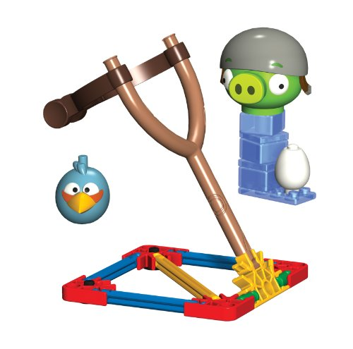 Angry Birds K'Nex Blauer Vogel vs Helmet Schwein [UK Import]