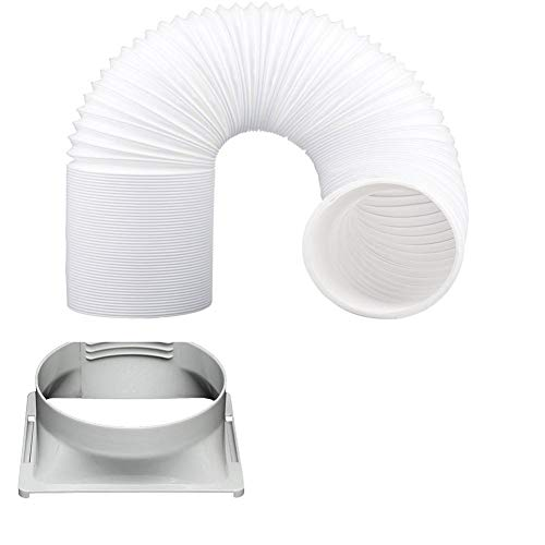 Finelyty Tubería De La Manguera para El Acondicionador De Aire De 5.91 Pulgadas De Diámetro Universal, Kit De Extensión De Manguera (7.09 5.91 2.48in)(Solo Interfaz sin Tubo)