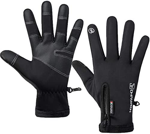 LJCUTE Winter Warm Fishing Gloves for Man Woman Windproof Water Repellent Anti Slip Running product image