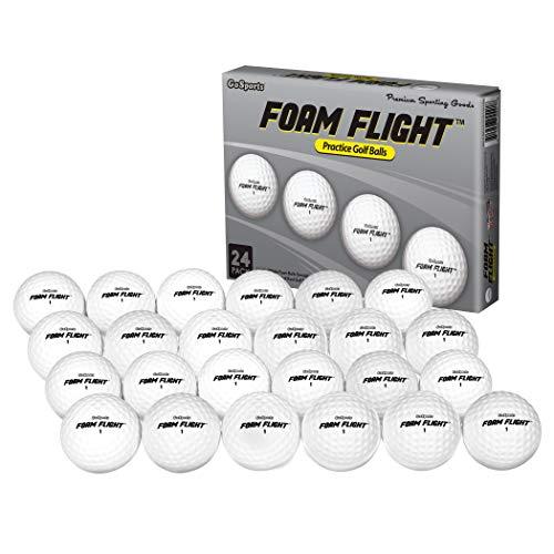 GoSports Foam Flight Practice Golf Balls - Pack of 24...