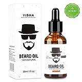 Aceite Para Barba, Aiemok 30ml Aceite de Barba Orgánico, Barba Nutritiva y Estilizadora Cuidado de la Barba, 100% Natural Aceite para Barba Cuidado para Hombres