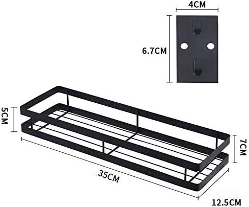Durable 35cm cuisine punch sans support mural Assaisonnement Support de rangement (Noir) (Color : Black) Black