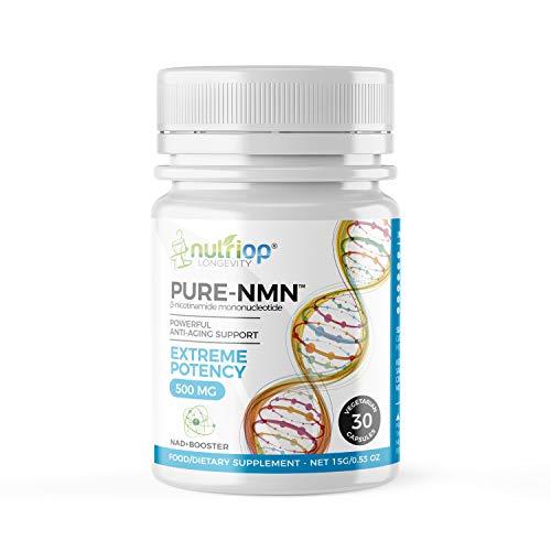 Pure-NMN Nicotinamide Mononucleotide Extreme Potency 500mg Capsules (x30) - 15g