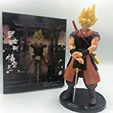 YIGEYI Dragon Ball Z Goku Samurai Series Super Saiyan Anime Action Figura 22 cm Figuras de PVC de PV...