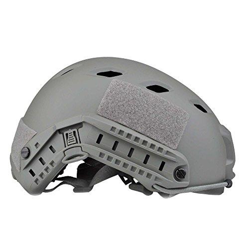 LOOGU Airsoft Helm Fast BJ Militärhelm Ops Core Helm mit Kopftuch Taktischer Schutzhelm für Paintball Freizeit Outdoor Tactical Jagd Top Grau Helmet