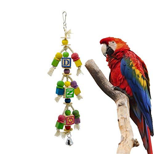JLCYYSS Vogel-Papageien-Spielzeug-Bell-Haustier-Vogel-Spielzeug-Hängendes Spielzeug Für Kleine Sittiche Cockatiels, Conures, Macaws, Papageien, Liebes-Vögel, Finke