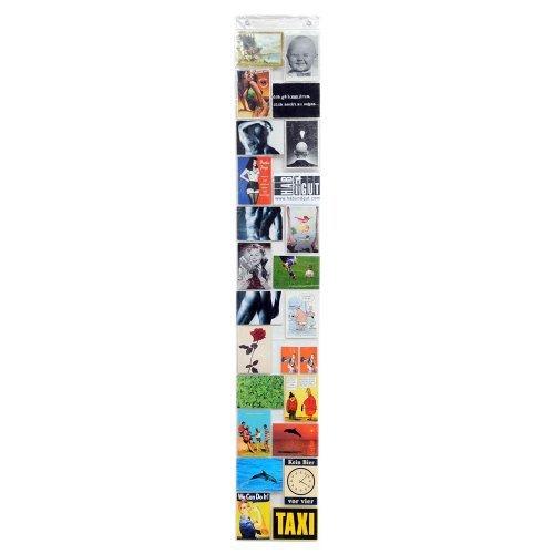 HAB & GUT (DV001) Fotovorhang mit 24 Taschen Hoch- und Querformat, Taschengröße 15x10,5cm bzw. 10,5x15cm, Größe 164x26cm