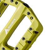 Eigertec Basic MTB Pedals Mountain Bike Pedals Lightweight Nylon Fiber Bicycle Platform Pedals for BMX MTB 9/16' (Yellow)