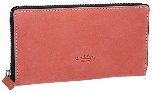 Gusti Gusti Geldbörse Leder - Cara Portemonnaie Brieftasche Geldbeutel Damen Rot Leder
