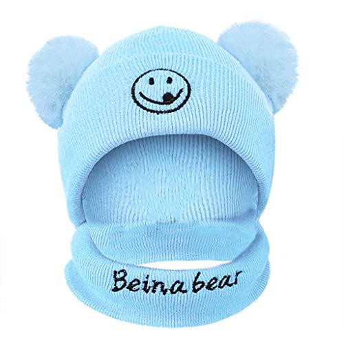 SOMESUN Baby Hüte Wintermütze Warme Schlupfmütze Mütze Beanie Ballonmütze mit Loop Schal Schlupfmütze Junge Mützen Haube Kapuze Mützen Hüte Strickmützen