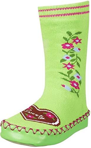 Playshoes Zapatillas con Suela Antideslizante Corazones, Pantuflas Unisex niños, Verde (Gruen 29), 17/18 EU