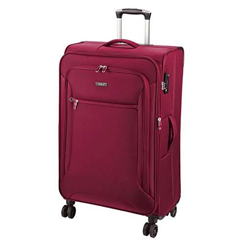 D&N Travel Line 6404 Koffer, 78 cm, 100L, Bordeaux