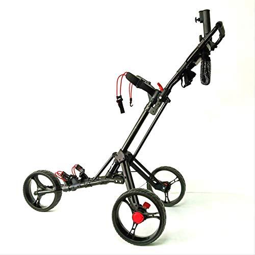 NOLOGO Folding Aluminio Aleación Golf Trolley Multifuncional Plegable Golf Pull Cart con...