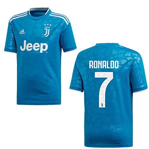 adidas Juventus Turin Trikot 3rd Kinder 2020 - Ronaldo 7, Größe:140