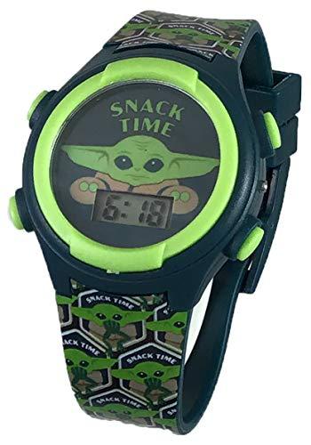 Star Wars Kid's Mandalorian Baby Yoda The Child Snack Time Digital Light Up Watch