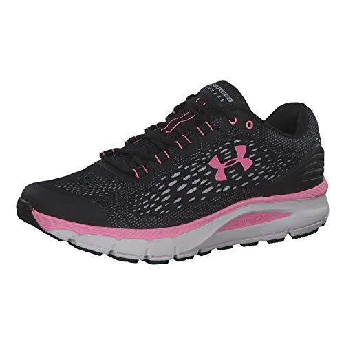 Under Armour Women's Charged Intake 4 Running Shoe, Black (002)/White, 7 M US