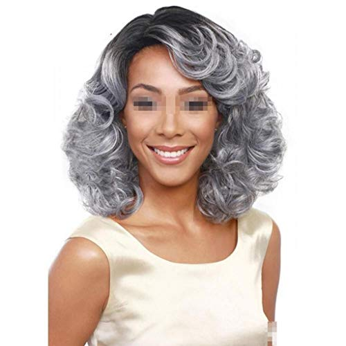 Lifelike Europe and The United States Fashion Female Middle-Age Lady wig Short Hair Convient à Toutes Les Femmes