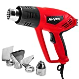 Hi-Spec 5 Piece 2000W Electric Hot Air Heat Gun with Nozzles Set. Easy to Use Dual Temperatures to Burn &...