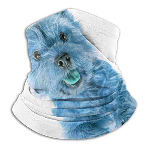 senob Retrato de un pequeño Perro Fleece Neck Warmer Pasamontañas Hood