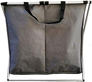 Panier à linge pour vêtements, vêtements, saletés, 2 compartiments, salle de bain, buanderie, salle de bain, pliable