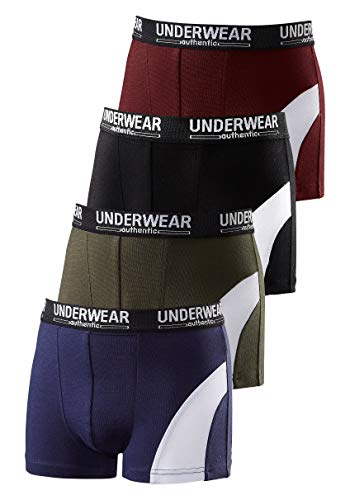 Le Jogger Authentic Underwear Jungen Boxershorts, 4 er Pack (134/140)