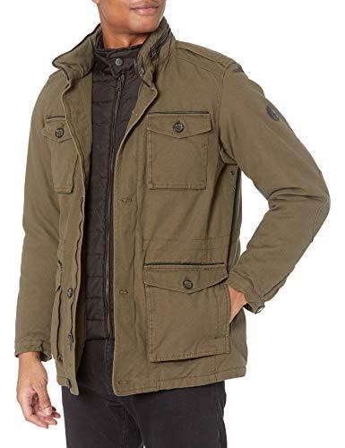 Ben Sherman Men's Parka Jacket, Cotton Olive, L