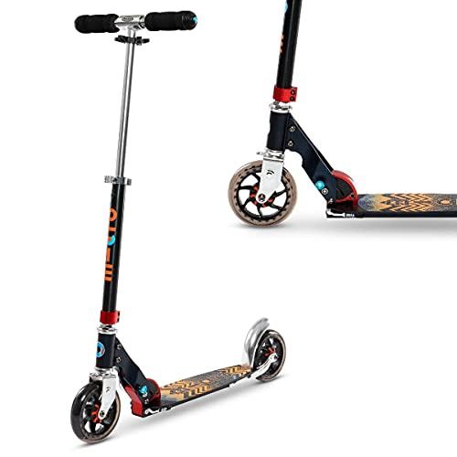 Micro Kinderroller Speed+ Scooter in schwarz-orange