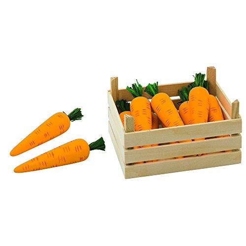 Goki 51677 - Kaufläden und Zubehör - Möhren, Gemüsekiste