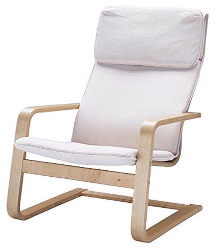 ¡Solo cubierta! ¡La silla no está incluida! El reemplazo de las fundas de la silla de algodón está hecho a medida para el sillón IKEA Pello. El color blanco