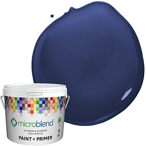 Microblend Interior Paint and Primer - Blue/Blue Laser, Semi-gloss Sheen, 1-Gallon, Premium Quality, One Coat Hide, Low VOC, Washable, Microblend Blues Family