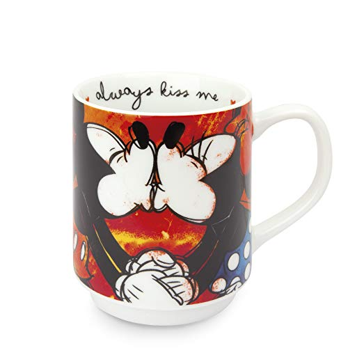 Egan PWM21I/S Mug, Modello Sweet Love, Porcellana, Rosso