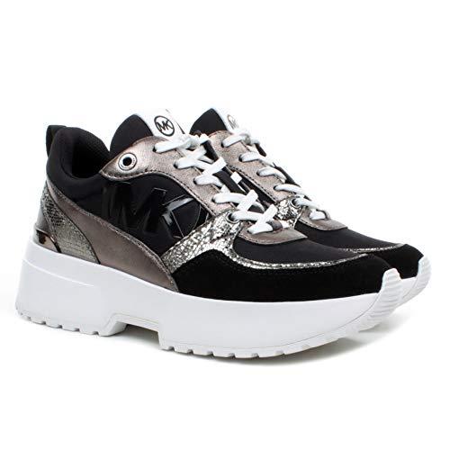 Michael Kors Damen Sneakers 43F9BLFP1D Ballard Leder Fabric Schwarz