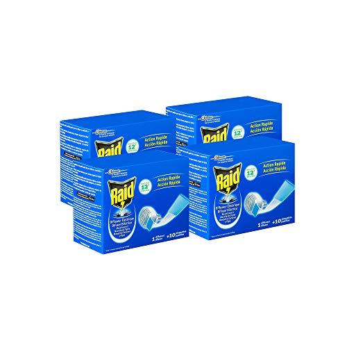 Raid ® Eléctrico en Pastillas - Pack 4 aparato anti mosquitos comunes y tigre....
