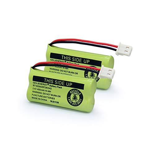 Geilienergy BT183342 BT283342 BT166342 BT266342 BT162342 BT262342 Battery Compatible with CS6114 CS6419 CS6719 EL52300 CL80112 CS6719-2 Cordless Handsets (Pack of 2)