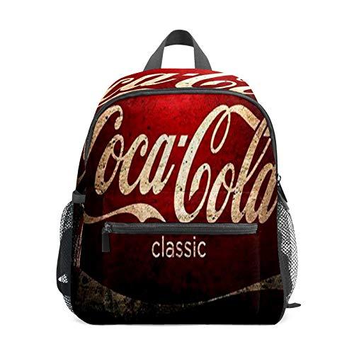 Zaino per bambini in età prescolare per la scuola materna per bambini con tracolla leggera, per 1-6 anni, perfetto zaino per bambini allasilo, vintage, classico, Coca Cola
