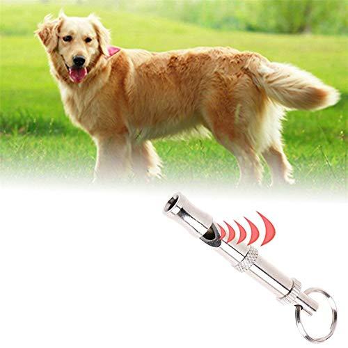 Ibesecc Silbato de perro portátil para mascotas, llavero ultrasónico de dos tonos, para evitar ladridos, repelente de sonido, silbato de entrenamiento de perro