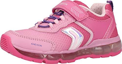 Geox Mädchen J Android Girl A Sneaker, Pink (Fuchsia C8002), 25 EU