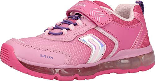 Geox Mädchen J Android Girl A Sneaker, Pink (Fuchsia C8002), 27 EU