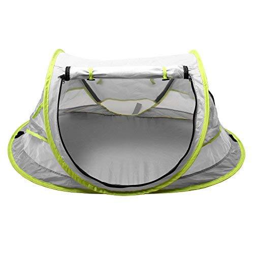 Lit Bébé Tente de Plage Pliante Enfant Lit De Voyage Piscine Pop up Anti-UV Portable Moustiquaire pour 0-2 Ans