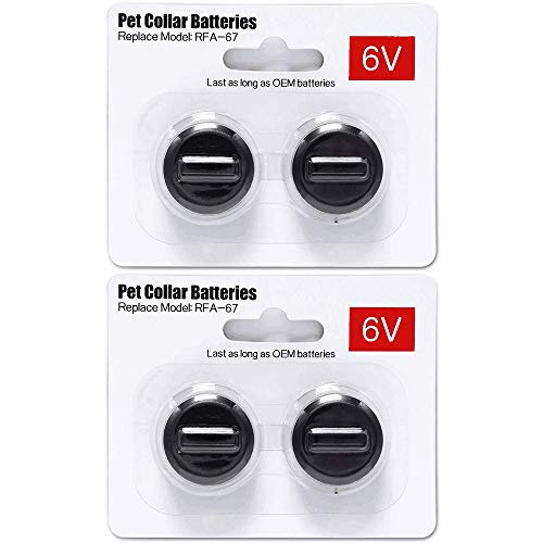 Ruzixt 6V Pet Collar Batteries Compatible with PetSafe RFA-67 6 Volt Replacement Battery (4 Pack)